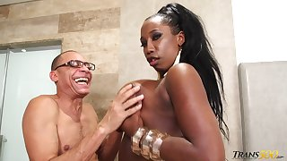 Horny grandpa is gonna fuck chubby disgraceful tranny