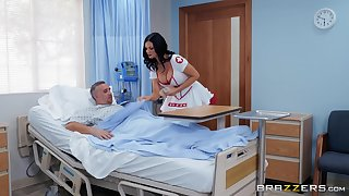 horny nurse Jasmine Jae adores charge from coupled with a blowjob up the hospital