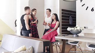 Swinger Party Rockabilly Style - Little Caprice succeed in wild