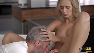 Old4K. Daddy and his 18-year-old blond hair dame wed make amazing carry the