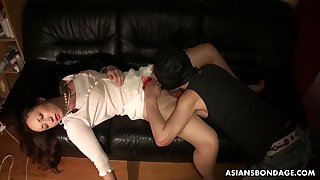 Boyfriend licks and fucks pussy of sleeping swain Ayumi Wakana