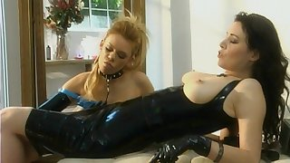 DIrty lesbian sex with latex fetish - Anastasia Puncture with the addition of Gia Paloma