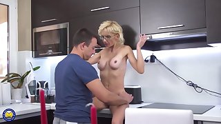 Gizelda is a delightful, blonde milf who likes to suck cock until clean out explodes from pleasure