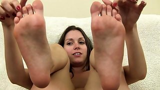 Milf With A Foot Fetish Gives A Titty Fucking