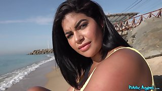 Crude video of brunette Sheila Ortega with massive tits and ass