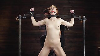 Filial redhead arse fucked while being restrained