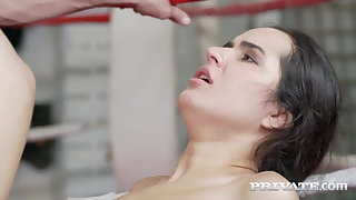 Private.com - Young Boxer Monica Brown DPd By 2 Firm Cocks!