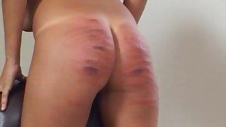 Slut enjoys having say no to aggravation spanked hard by a medial blonde