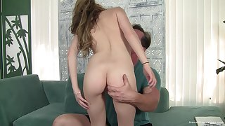 Unerring ass model sucks a large cock and gets fucked doggystyle