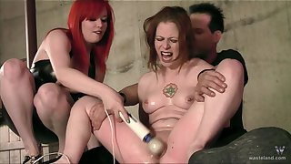 Girl's circumscribe are second when Dom and Mistress go at her firm