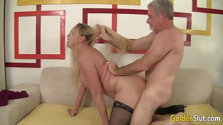 Mature blonde women enjoy their old pussies getting reamed by hard dicks in many positions