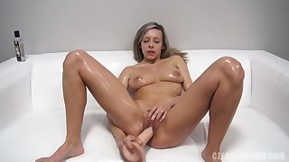 Dildo In Amateur Sexual connection Girl's Snatch - Tracy Smile