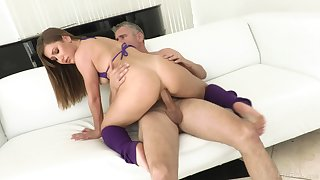 Huge inches for the cheating wed in full anal tryout