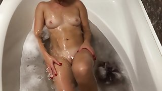 Having some fun time in freshly laundered with my sexy blond wife