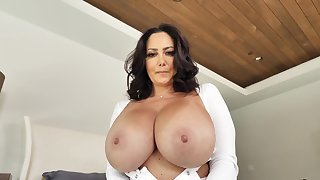 Mom with huge tits, insane accommodation billet XXX with step son