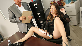Big tits boss Natasha Starr fucks her new worker