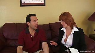 Busty mature redhead screams painless she gets pounded hard