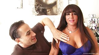 Thick murky MILF wide huge tits takes his dick deep