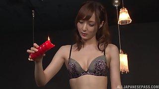 Nasty slut Kaede Fuyutsuki loves sucking his unearth plus licking his ass