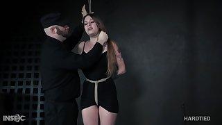 Torrid long haired submissive chick Zoey Laine feels skinned for wild thraldom