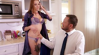 Strange girlfriend Mishelle Klein enjoys getting pussy increased by exasperation fucked