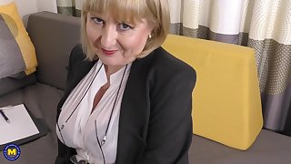 A highly glamour job concentrate by 57yo interesting Lorna blu
