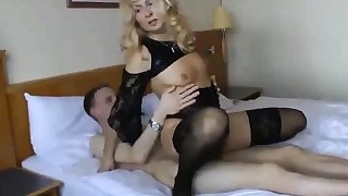 Cuckold dame with younger follower groupie
