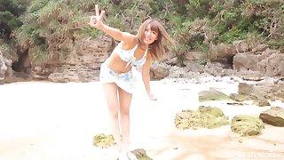 Dissipated outdoors fucking by the sea with sexy Asian girl Ayu Sakurai
