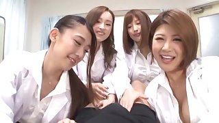POV dusting close to Japanese watch over Hamasaki Mao having group sex
