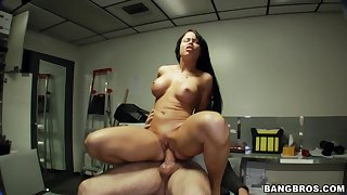 Hardcore dicking with unilluminated darling with the addition of a fat dick - Nikki Delano